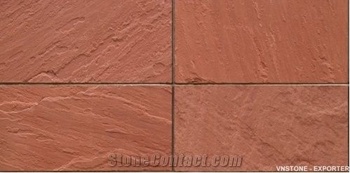 Red Slate Tiles Slabs Floor