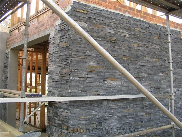 Charcoal Rust Ledger Panel Split Face Slate Cultured Stone For Wall Cladding Xiamen Alot Co Ltd