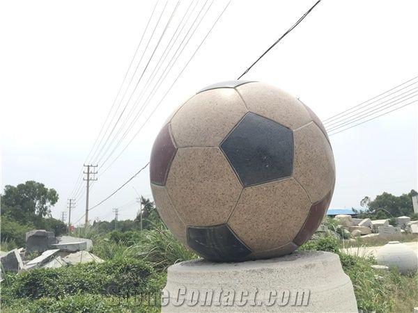 Granite Football Polished Soccer Ball Garden Decor Xiamen Alot Fascinating Stone Ball Garden Decoration
