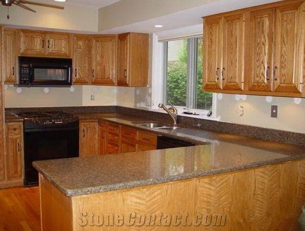 L Shape Granite Kitchen Tops Carioca Gold Granite Kitchen