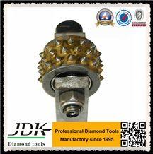 30 Tips Diamond Bush Hammer Roller for Stone Lichi Surface Finishing