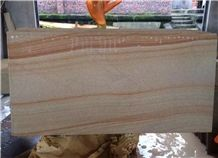 Teak Wood Sandstone Tiles and Slabs China Yellow Sandstone