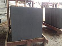 Hainan Dark Bluestone Sawn 400 Grit with Cats Paws Tiles, Hainan Black Basalt Sawn 400 Grit Tiles, China Black Basalt Floor Tiles, Black Basalt Walling & Flooring Sawn 400 Grit Tiles