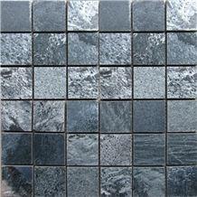 Silver Grey Slate Stone Mosaic, Stone Mosaic Tiles