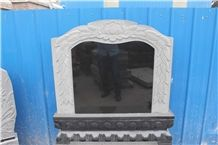 G603,G654, Shanxi Black Granite Mixed Tombstones Western Style Asian Style Americal Style
