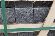 Yixian Black Granite Zijing Dark Granite Cube Stone, Cobble Stones, Competitive Prices