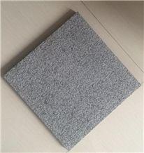 China Cheap Yixian Black Sandblasted Granite Tiles