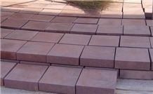 Red Sandstone Cube Stone