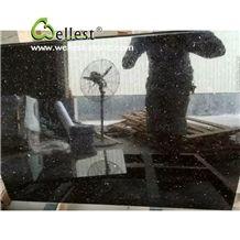 Black Galaxy Granite Kitchen Countertop
