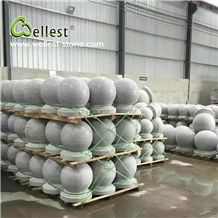 China Natural Gray Color Cheap G603 Granite Stop Ball Stone for Project