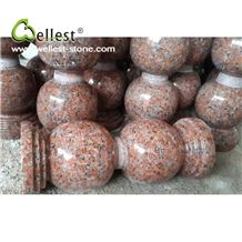 Factory Manufacture High Quality Cheap Maple Leaf Red Granite Parking Stop Stone
