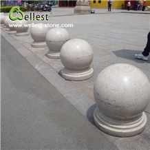 Wholesale Natural Grey New Granite Stop Ball Stone for Parking Car