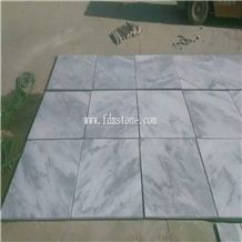 Cheap China Cloudy White Sandblasted Marble Paver Tile,White Wave Marble with Grey Vein Flooring and Walling Tiles