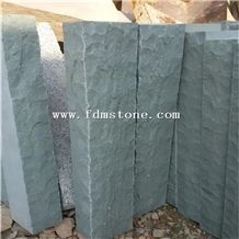 China Green Sandstone Verde Pista Cleft Split Natural Palisade,Garden Decor Pillars