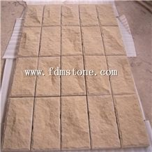 China Yellow Wood Vein Sandstone Split Face Tiles