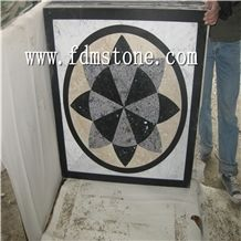 Chinese Water Jet Round Marble Patterns