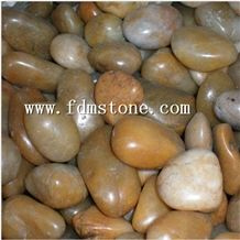 Decorative Yellow Gravel Pebble Stone for Garden
