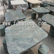 Garden Stone Bench, Grey Granite Bench & Table