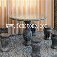 Garden Used Marble Outdoor Stone Tables and Benches