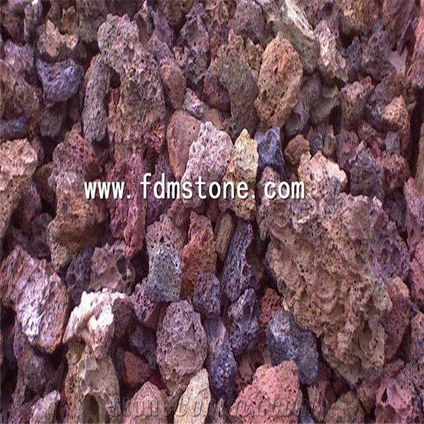Multicolour Lava Stone Cooking Gravelred And Black Lava Stone