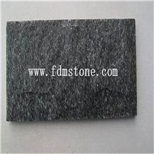 Natural Black Quartize Stone Split Face
