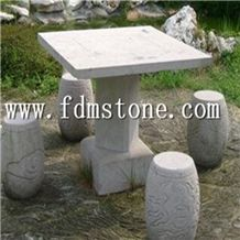 Outdoor Park Stone Table and Chairs