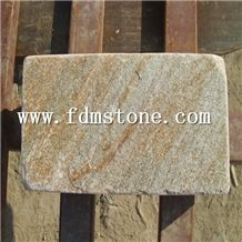 P014 Slate Tiles for Sale, Yellow Gold Slate Swimming Pool Deck Tiles