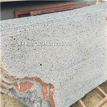 Split Face Lava Stone Tile & Slab, Black Basalt