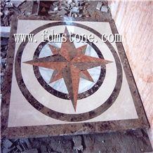 Water Jet Floor Pattern Marble Design Medallion