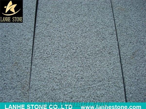 G654 Granite Flamed And Brushed Finishing Floor Tiles Grey China Est Black Paving