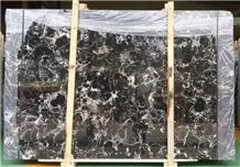Black Rose Cross Cut Silver Dragon Marble Tile & Slab