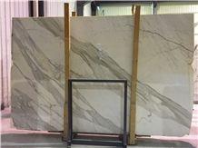 Calacatta Carrara Italy White Marble Tile & Slab