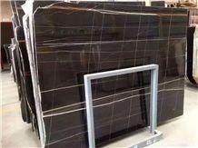 Nero Tunisi St. Laurent Black Gold Italy Black Marble Tile & Slab
