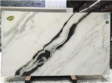 Panda White Taiya White Marble Tile & Slab
