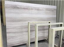Silver Serpenggiant Grey Wood Grain Marble Tile & Slab