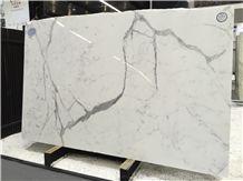 Statuario Italy White Marble Tile & Slab