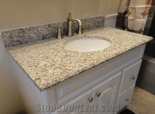 Tiger Skin White Granite Bathroom Countertop Vanity Top