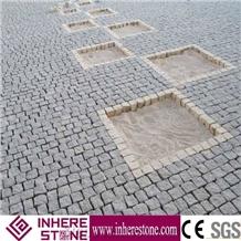 China Fujian G654 Sesame Gray Granite Cube Stone Paving Stone