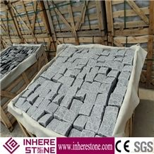 G654 Granite Padang Black Pavnig Stone,China Impala Black Parking Stone,Sesame Black Granite Cube Stone