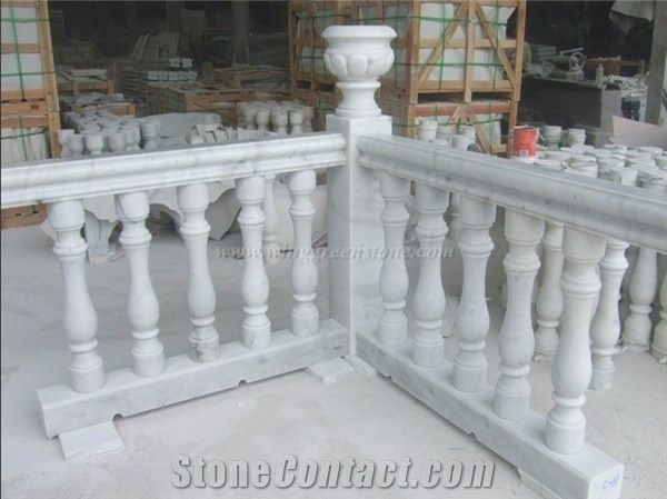 own factory  white marble staircase rails  outdoor and