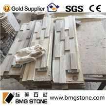 Natural Culture Stone White Wooden Marble Cultured Stone for Wall Cladding Decoration