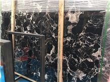 China Portoro Gold Marble Slabs / Black Marble / Marble Tiles / China Portoro Gold Marble