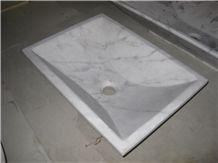 China White Marble Ivory Jade Bianco Carrara Guangxi White Polished Round Square Vessel Washbasin Sink Bathroom Basin Wash Bowl