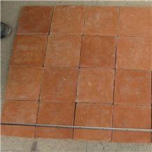Handmade Orange Terracotta Tile Brick