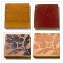 Handmade Terracotta Glazed Antique Tile