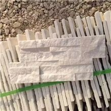 White Quartize Veneer Wall Tile Culture Stone Ledge Stone Wall Panel