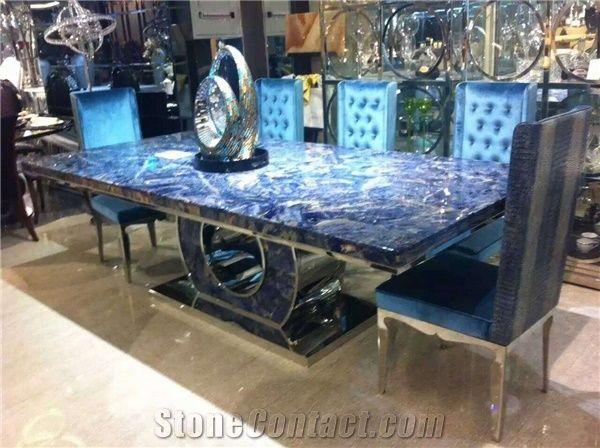 Semiprecious Stone Countertops Tabletops Reception Tops Mosaic Nature