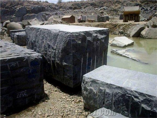 Black Galaxy Granite Blocks Raw Material From India