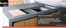 Volcano Grey Granite Kitchen Countertop