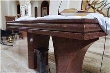Rosa Raveno Granite Church Interior Furniture, Chapels